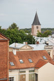 Gammal stad Tartu, Estland Arkivfoto