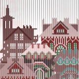 Gammal stad texturerad bakgrund Arkivbild
