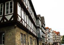 Gammal stad, Tyskland, gata, fasad Fotografering för Bildbyråer