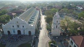 Gammal stad Vigan i Filippinerna lager videofilmer