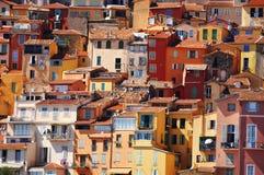 Gammal stadarkitektur av Menton på franska Riviera Royaltyfri Fotografi