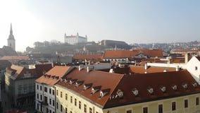Gammal stadciyscape från tornet stock video