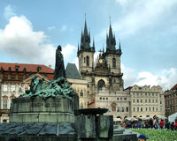 Gammal stadfyrkant, gamla Prague, Tjeckien Royaltyfria Foton