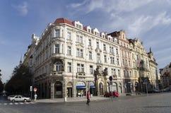 Gammal stadfyrkant i Prague Arkivbilder