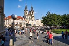 Gammal stadfyrkant, Prague, Tjeckien royaltyfri fotografi