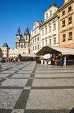 Gammal stadfyrkant, Prague, Tjeckien arkivfoton