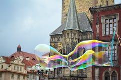 Gammal stadfyrkant, Prague, Tjeckien Arkivbilder
