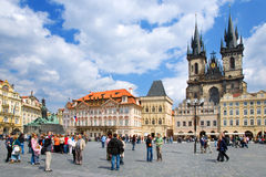 Gammal stadfyrkant, Prague (UNESCO), Tjeckien arkivfoton