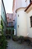 Gammal stadgård Arkivbild
