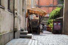 Gammal stadgata i Riga arkivbilder