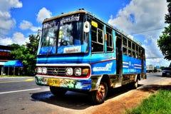 Gammal stadsbuss Royaltyfri Foto