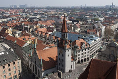 Gammal stadshusMunich Tyskland Arkivbild