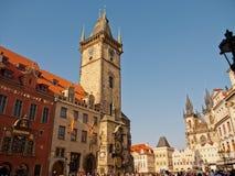 Gammal stadsida, Prague, Tjeckien Arkivfoto