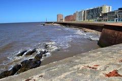Gammal stadskust av Montevideo Arkivbild