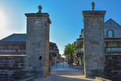 Gammal stadsport på den gamla staden i Florida historiska kust 5 royaltyfri bild