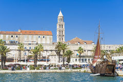 Gammal stadssplittring, Kroatien - 20 Juli 2017 Royaltyfria Bilder