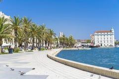 Gammal stadssplittring, Kroatien - 20 Juli 2017 Royaltyfri Bild