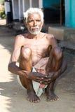 gammal stam- by för indisk man Arkivbilder