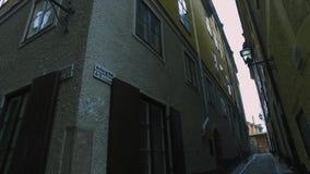 gammal stan stockholm för gamla town lager videofilmer