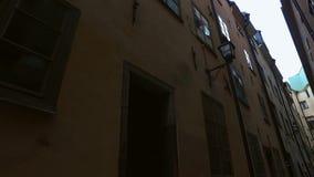gammal stan stockholm för gamla town stock video
