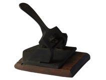 gammal stansmaskin för hål Royaltyfria Bilder