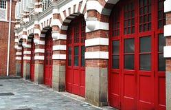 gammal station för brand Arkivbild