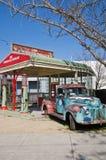 gammal station för gas Royaltyfri Foto