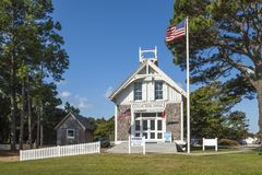 Gammal station för USA-livbesparing Royaltyfri Bild