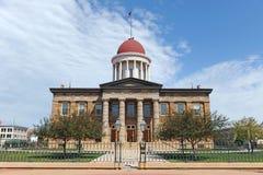 Gammal statlig Kapitolium av Illinois Arkivbild