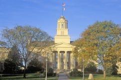 Gammal statlig Kapitolium av Iowa, Iowa City, Iowa Royaltyfria Foton