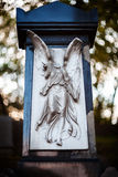 Gammal staty av ängeln Arkivfoton
