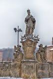 Gammal staty, monument i Kutna Hora Royaltyfri Fotografi