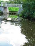 gammal sten för bro Arkivbilder