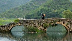 gammal sten för bro Arkivfoto