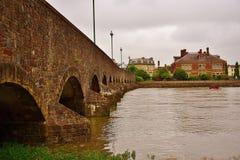 gammal sten för bro arkivfoton
