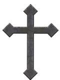 gammal sten för kors Arkivfoto