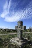 gammal sten för kors Arkivbild