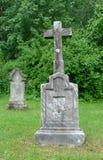 gammal sten för kors Royaltyfria Bilder
