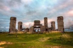 gammal sten för slott Arkivfoto