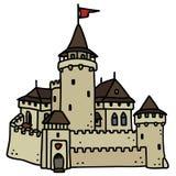gammal sten för slott Arkivbild