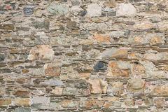 Gammal sten- och mortelvägg för bakgrund Royaltyfri Fotografi