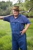 gammal stående för bonde Arkivfoton