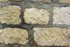 Gammal stenhuggeriarbetevägg Arkivbild