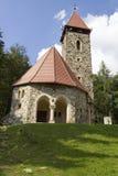 Gammal stenkyrka i staden av Miedzygorze poland royaltyfria foton
