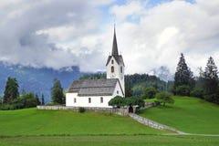 Gammal stenkyrka, Schweiz Arkivbilder