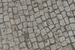 Gammal stentegelstentrottoar Fotografering för Bildbyråer