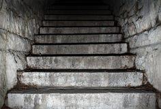 Gammal stentrappa Royaltyfri Bild