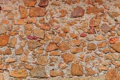 Gammal stenvägg Arkivbild