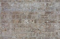 Gammal stenvägg för sömlös textur Arkivfoto