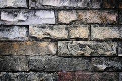 gammal stenvägg för tegelsten Royaltyfria Foton